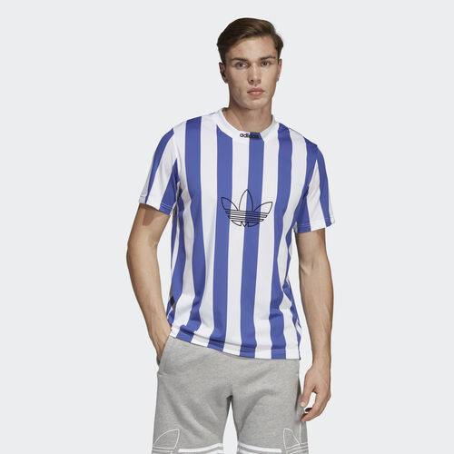 adidas - Stripes Jersey Active Blue / White DU8527