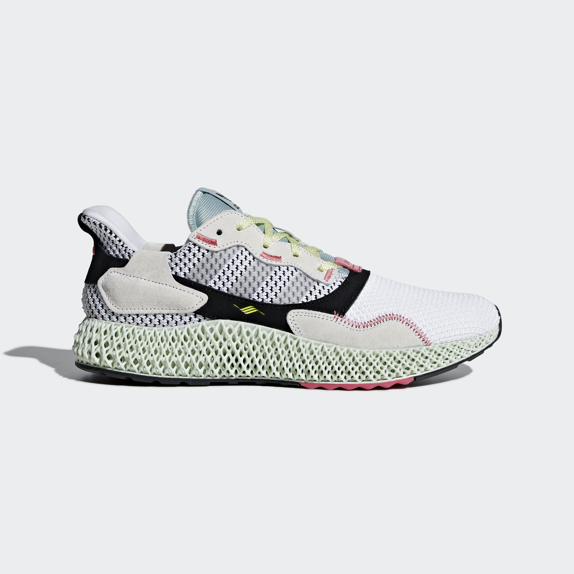 adidas - ZX 4000 4D Shoes Ftwr White   Grey Two   Linen Green B42203 c9db7b35a