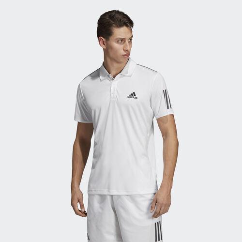 adidas - 3-Stripes Club Polo Shirt White / Black DU0849
