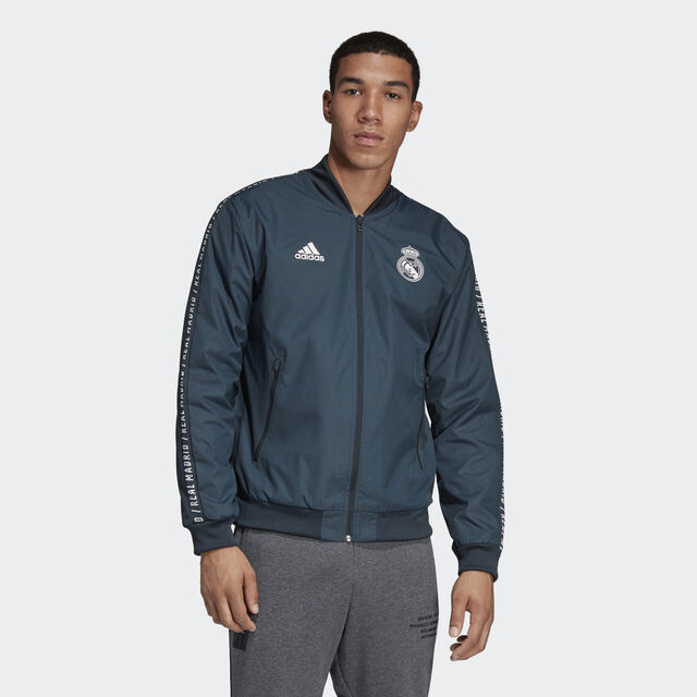 Chaqueta Himno Real Madrid - Grey adidas  a659dc91bd01a