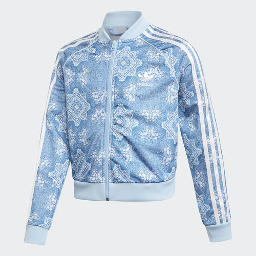 adidas - Culture Clash Cropped SST Track Jacket Multicolor / Clear Sky / White DV2366