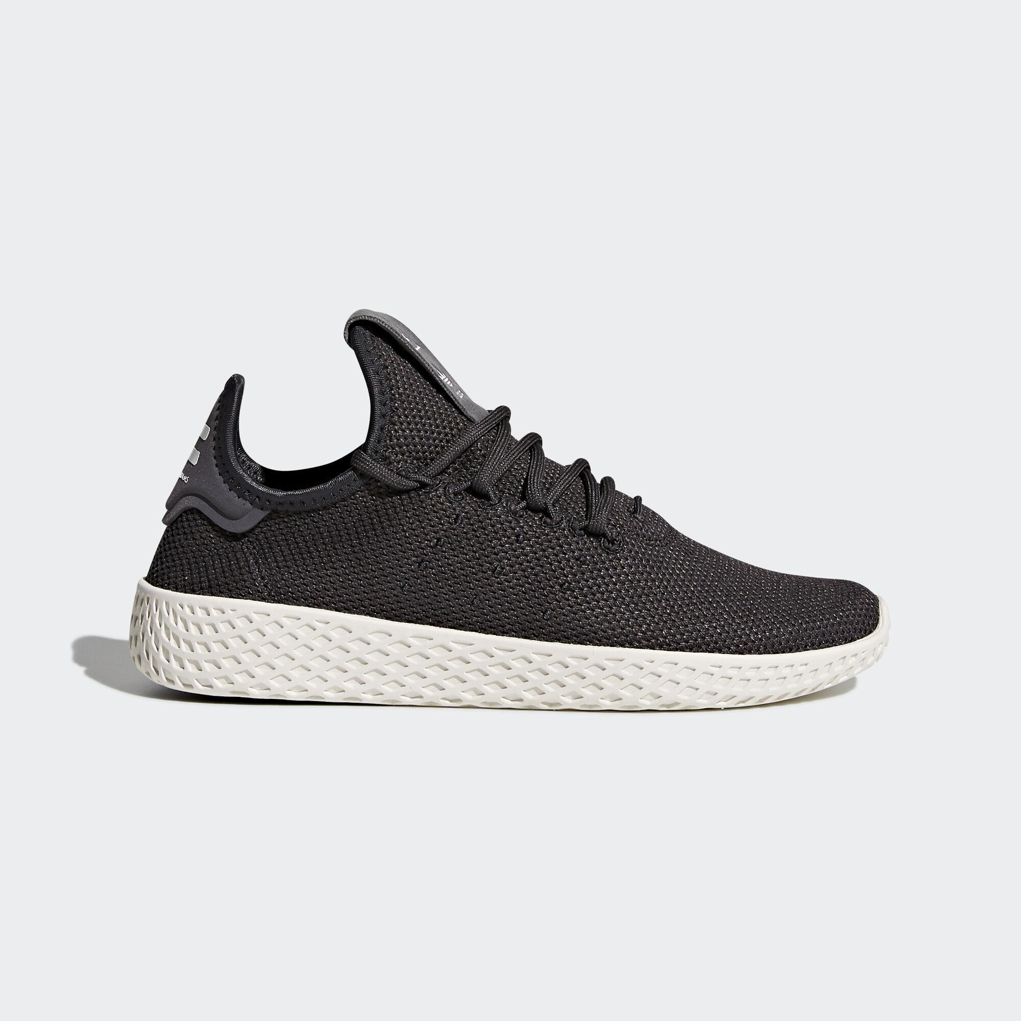 adidas - Pharrell Williams Tennis Hu Shoes Carbon/Carbon/Chalk White CQ2297