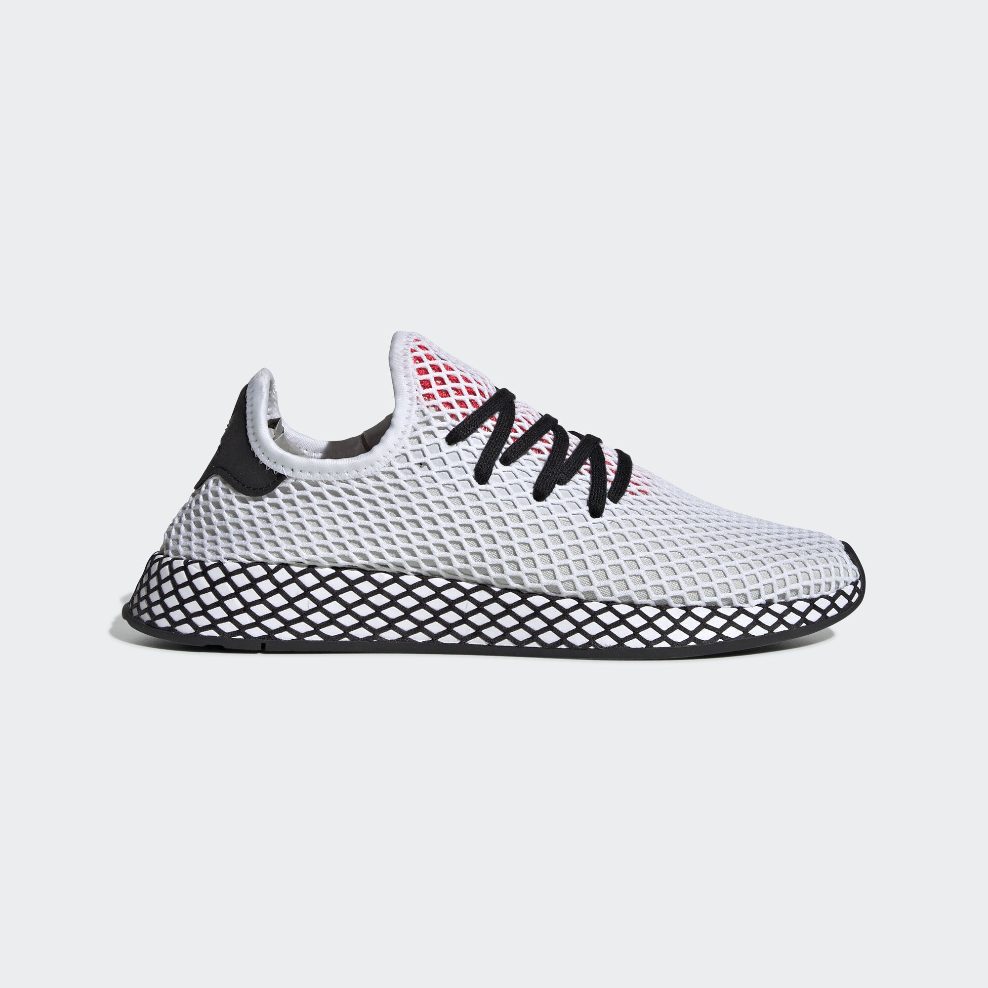 best sneakers 61cd1 9e04d adidas - Deerupt Runner Shoes Ftwr White  Core Black  Shock Red DB2686.  Originals