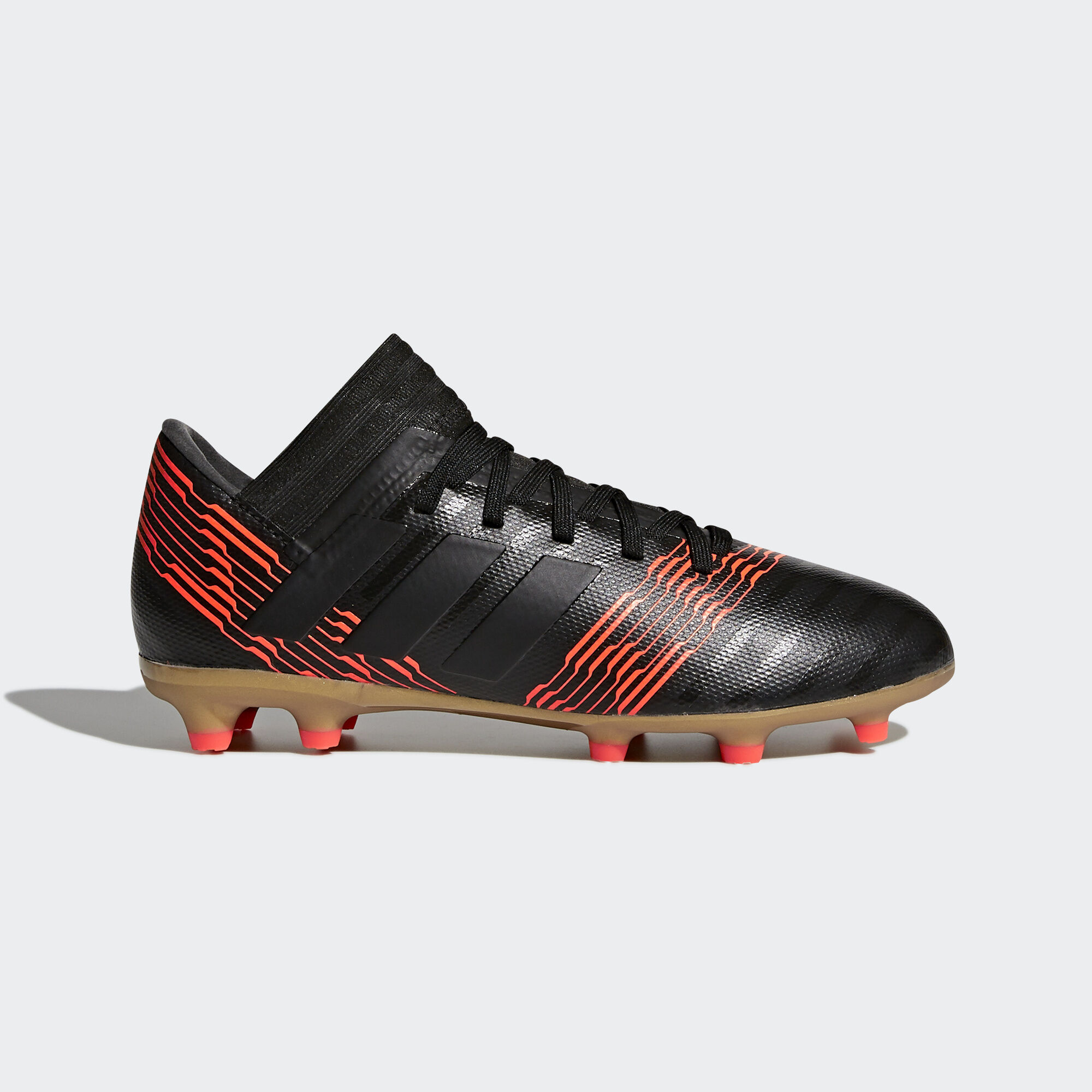 3cc95a52507a ... adidas nemeziz 17.3 firm ground boots core black core black solar red  cp9165