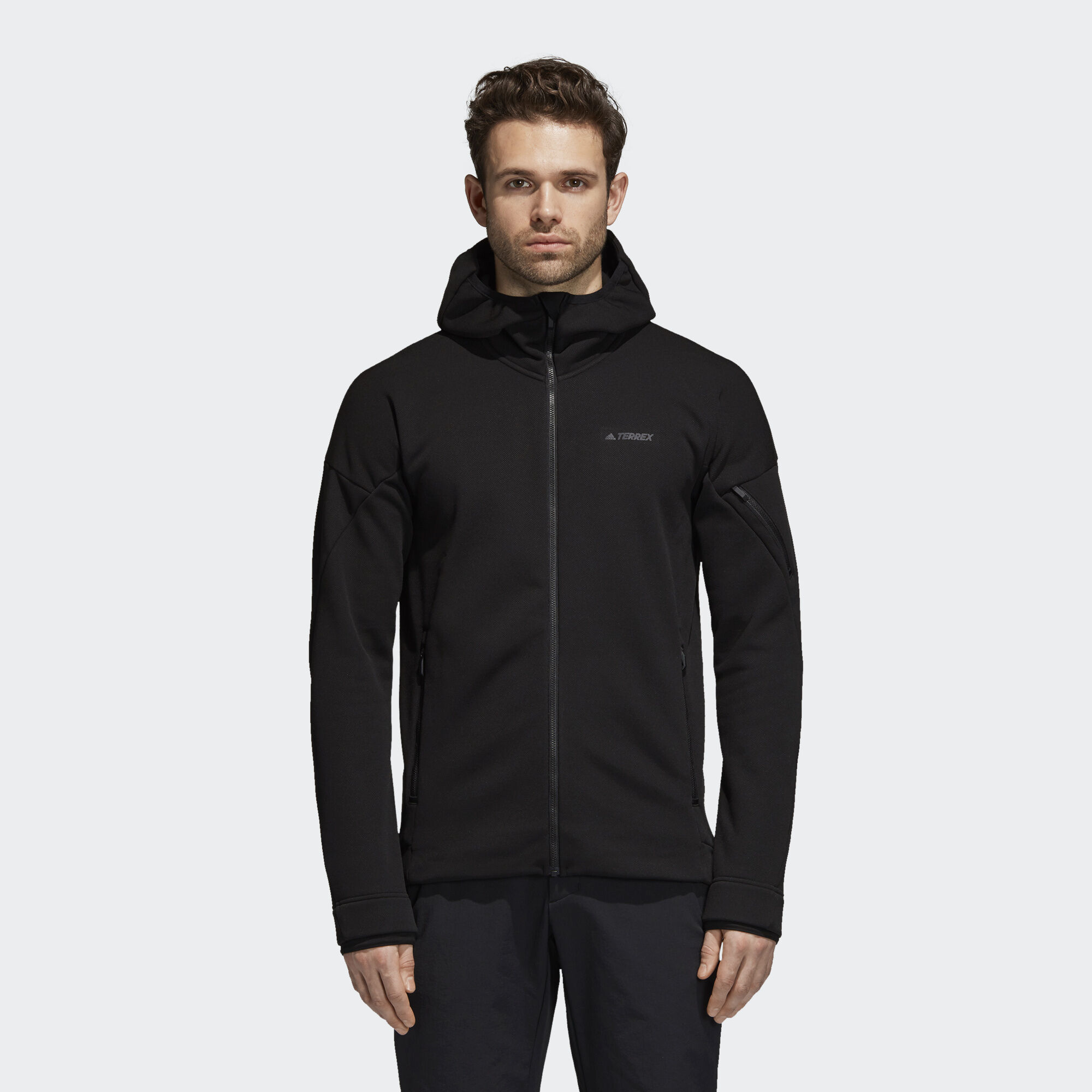 adidas Climaheat Ultimate Hooded Fleece Jacket - Black   adidas Asia ... 03363c1367