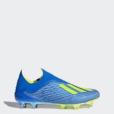 4a1b1e580b adidas - X 18+ Firm Ground Boots Football Blue   Solar Yellow   Core Black  ...