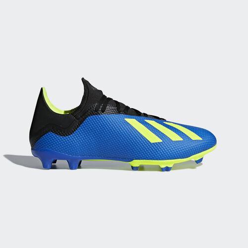 adidas - X 18.3 Firm Ground Boots Football Blue / Solar Yellow / Core Black DA9335