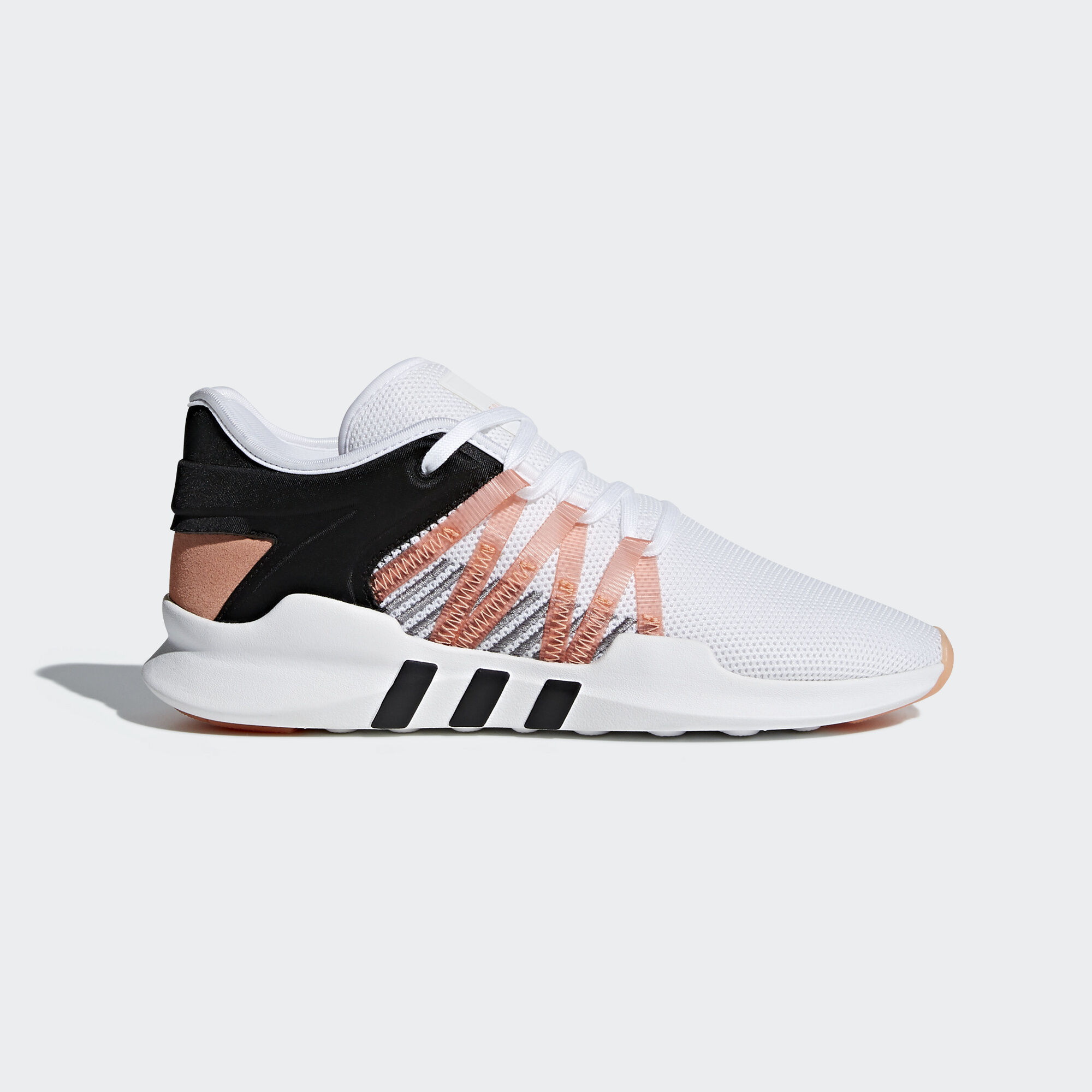adidas originals eqt racing adv trainers in black and white