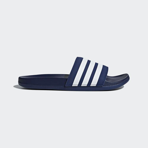 adidas - Adilette Cloudfoam Plus Stripes Slides Dark Blue / Ftwr White / Dark Blue B42114