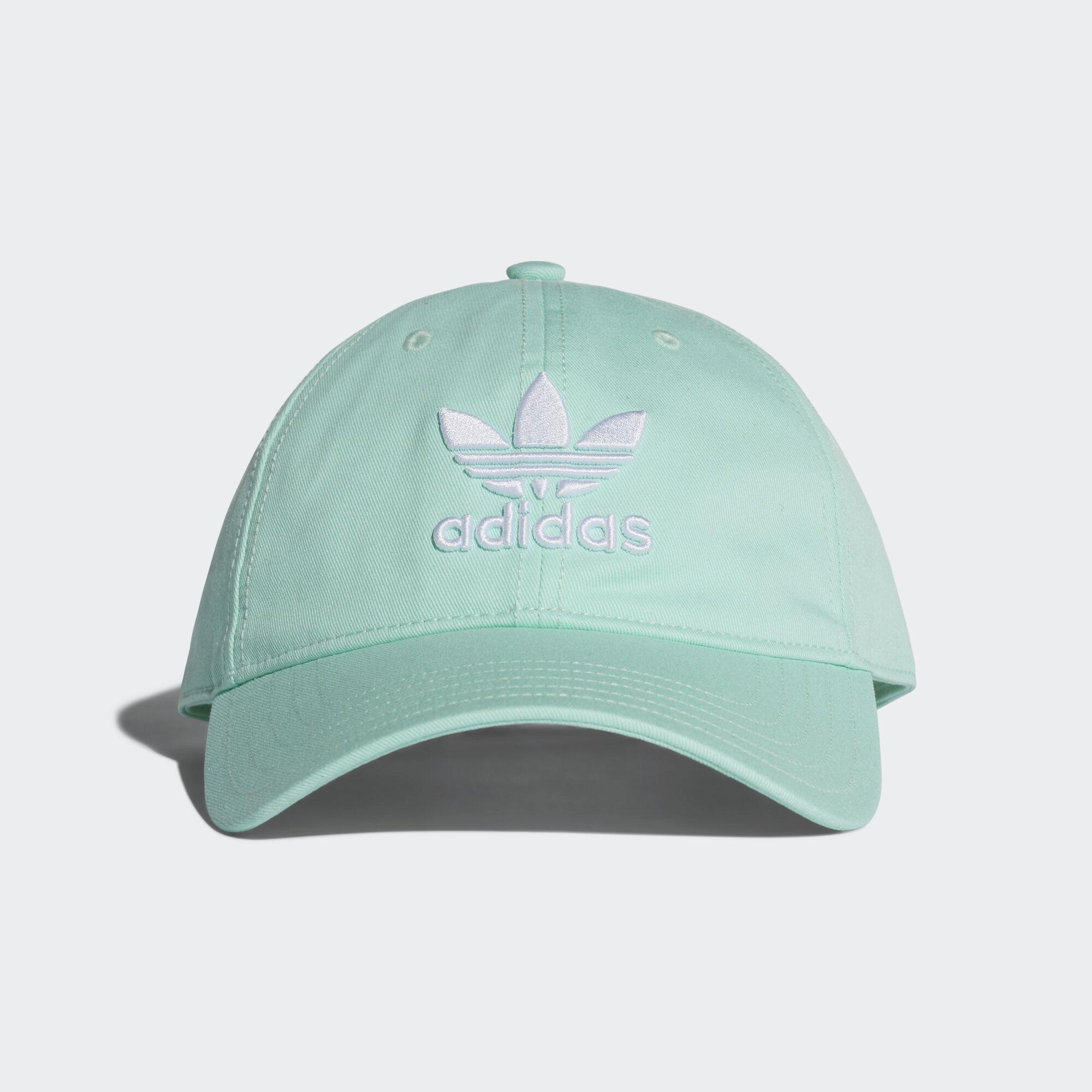 adidas - Trefoil Classic Cap Clear Mint   White DJ0883 7a6b22e5e27