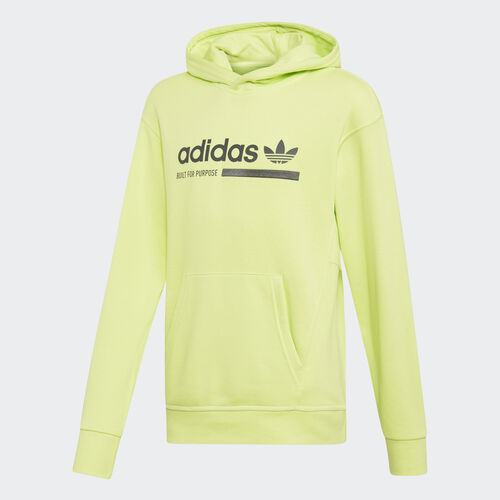 adidas - Kaval Graphic Hoodie Semi Frozen Yellow / Grey Six DW9186