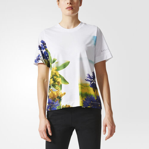 adidas - Essentials Nature Print Tee White BQ8340
