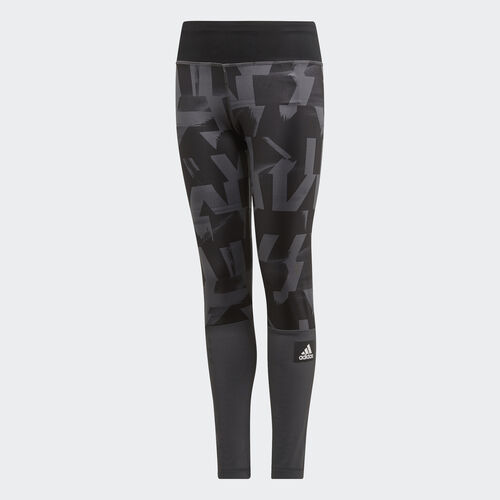 adidas - Tights Grey Six / Black / Black DV2734