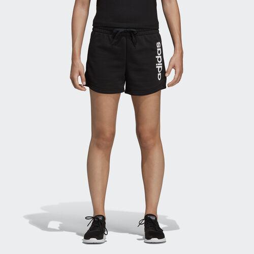 adidas - Essentials Linear Logo Shorts Black / White DP2393