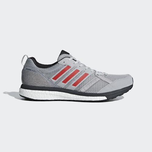 adidas - Adizero Tempo 9 Shoes Grey Two / Hi-Res Red / Carbon BB6651