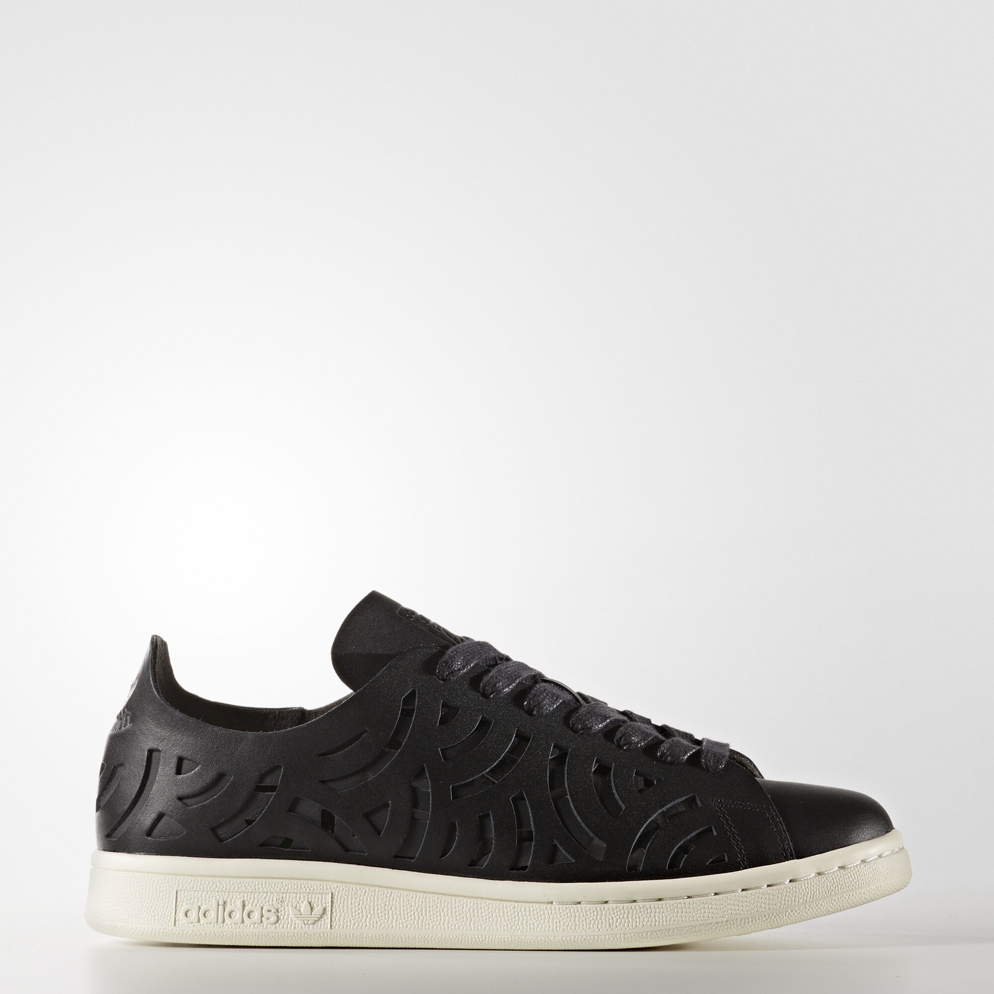 adidas - Stan Smith Cutout Shoes Core Black/Core Black/Off White BY2976