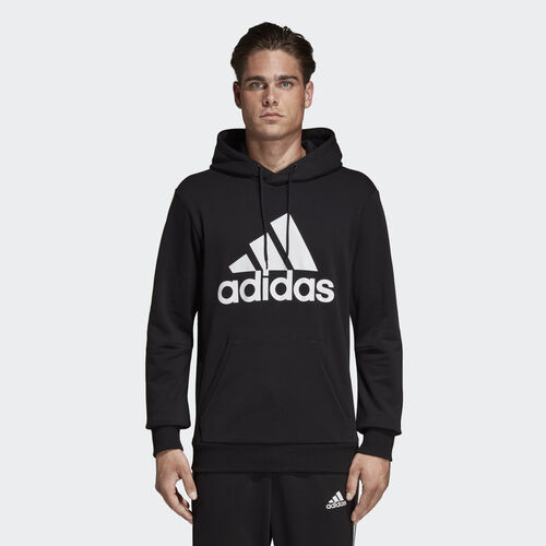 adidas - Must Haves Badge of Sport Hoodie Black / White DQ1461