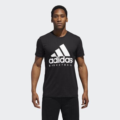 adidas - Basketball Graphic Tee Black / White DN4121