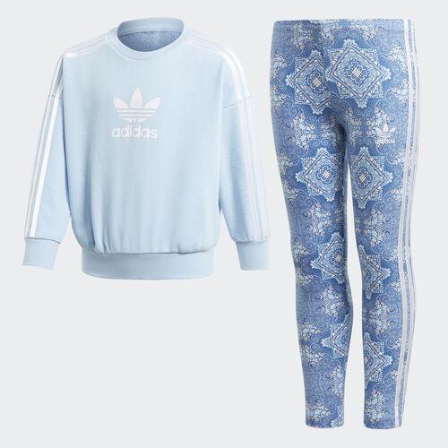 adidas - Culture Clash Crewneck Sweatshirt Set Clear Sky / White DV2344