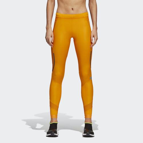 adidas - Run Long Shiny Tights Lucky Orange CZ3730