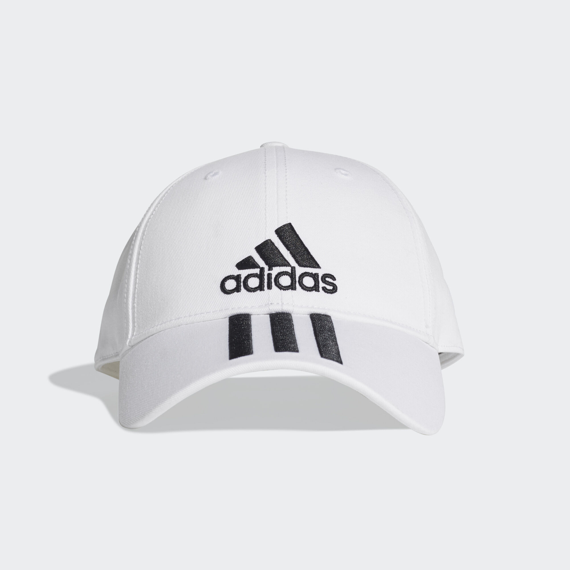 adidas - Six-Panel Classic 3-Stripes Cap White   Black   Black DU0197 ab501ed9a673