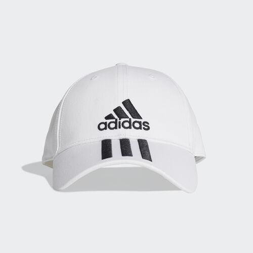 adidas - Six-Panel Classic 3-Stripes Cap White / Black / Black DU0197