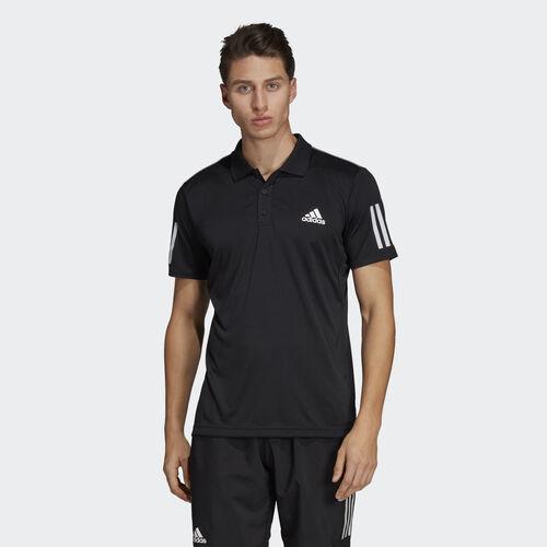 adidas - 3-Stripes Club Polo Shirt Black / White DU0848