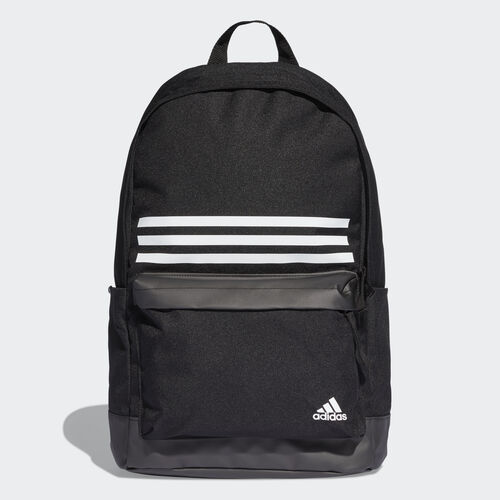 adidas - Classic 3-Stripes Pocket Backpack Black / Black / White DT2616