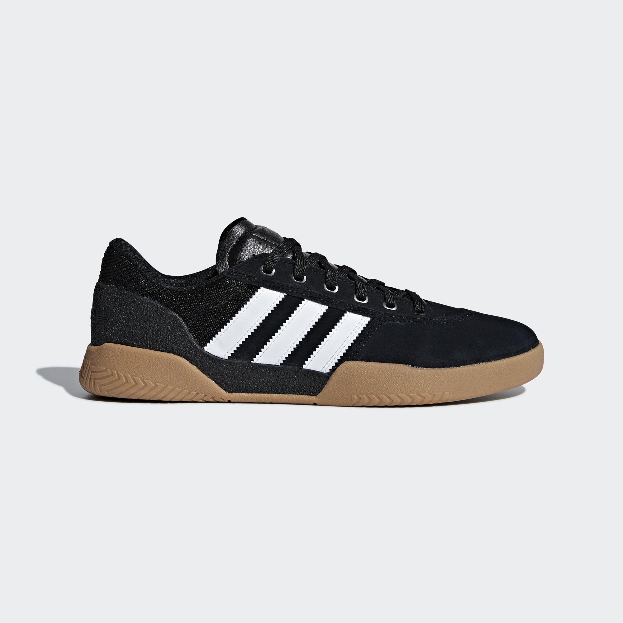 Adidas - City Cup  Mens Skate Shoes - CQ1081  Black / White / Gum