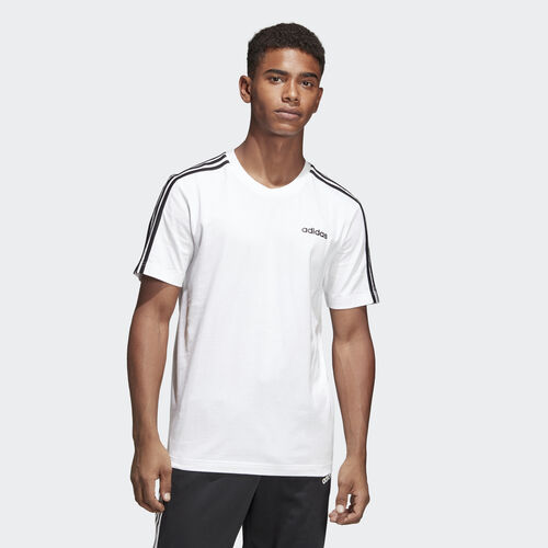 adidas - Essentials 3-Stripes Tee White / Black DU0441