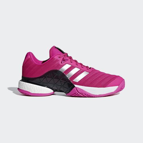 adidas - Barricade 2018 Boost Shoes Shock Pink / Matte Silver / Legend Ink AH2093