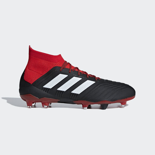 adidas - Predator 18.1 Firm Ground Boots Core Black / Ftwr White / Red DB2039