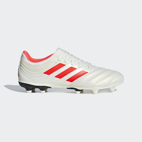 adidas - Copa 19.3 Firm Ground Boots Off White / Solar Red / Core Black BB9187