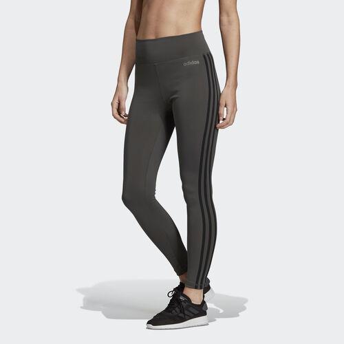 adidas - Design 2 Move 3-Stripes High-Rise Long Tights Legend Ivy DU2042