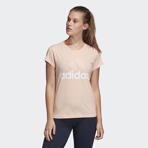 adidas - Essentials Linear Slim Tee Haze Coral / White CZ5770