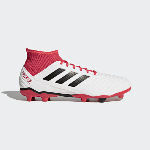 adidas - Predator 18.3 Firm Ground Boots Ftwr White/Core Black/Real Coral CM7667