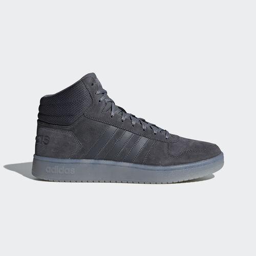 adidas - Hoops 2.0 Mid Shoes Grey Five / Grey Five / Grey Three B44635