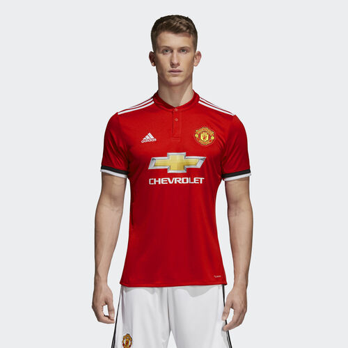 adidas - Manchester United Home Replica Jersey Real Red/White/Black BS1214