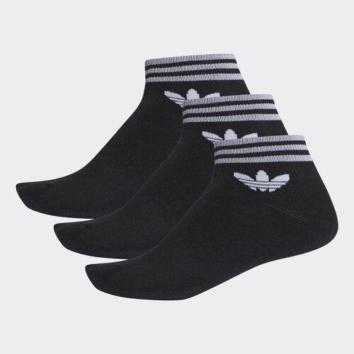 adidas - Meias pelo Tornozelo Trevo – 3 pares Black AZ5523