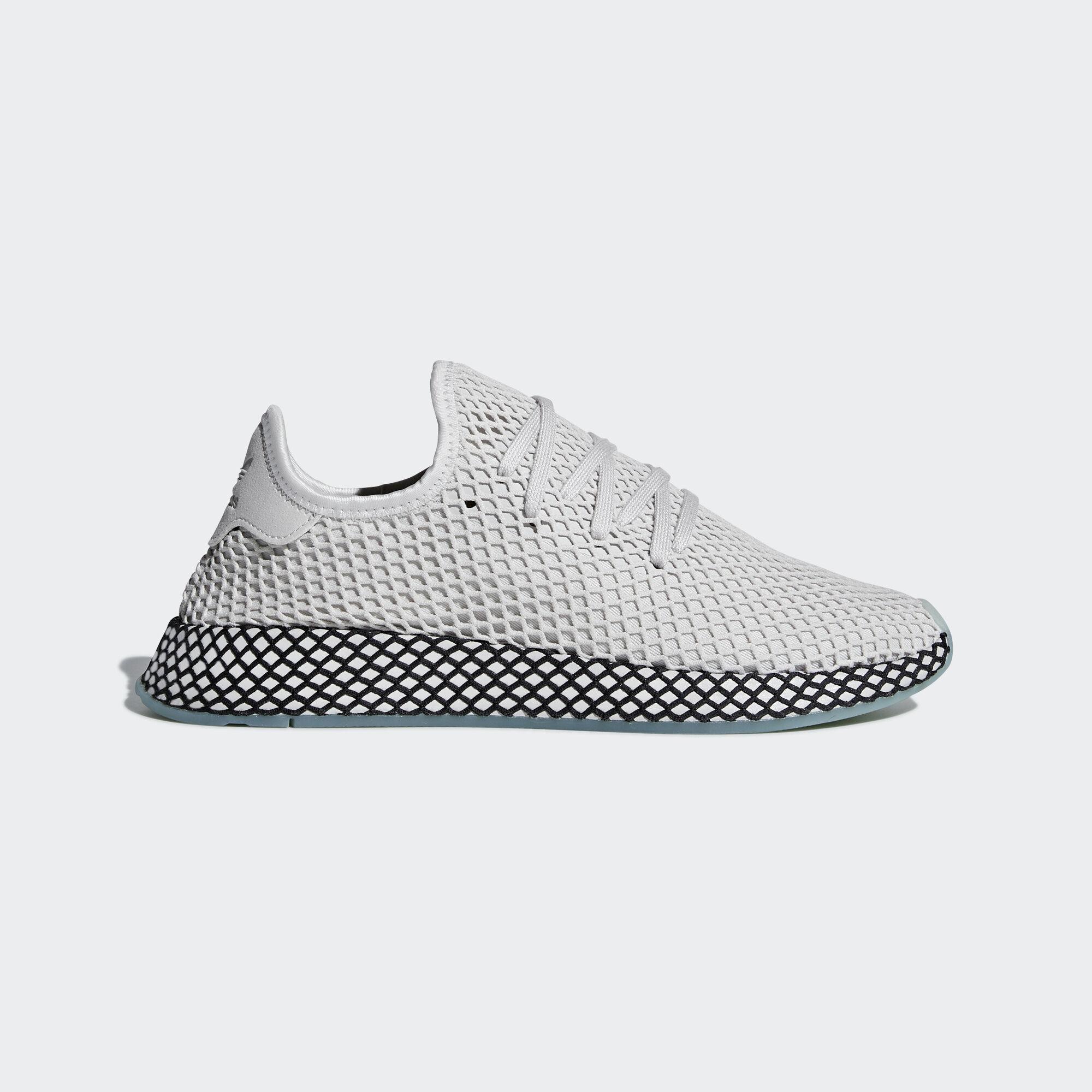 newest 0a5de eaf8f adidas - Deerupt Runner Shoes Grey One  Grey One  Clear Mint B41754.  Originals
