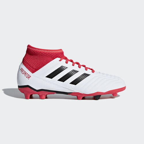 adidas - Predator 18.3 Firm Ground Boots Ftwr White/Core Black/Real Coral CP9011