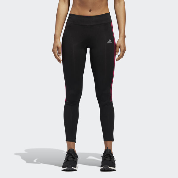 Leggings Running 3-Stripes Preto CZ8096