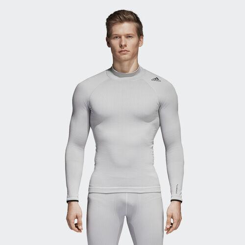 adidas - Techfit Climaheat Mock Tee Grey Two BP5601