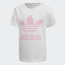 35ce005c0f adidas - Trefoil Tee White   Light Pink DH2464