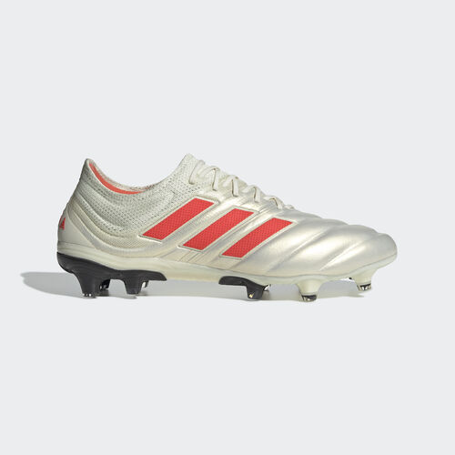 adidas - Copa 19.1 Firm Ground Boots Off White / Solar Red / Core Black BB9185