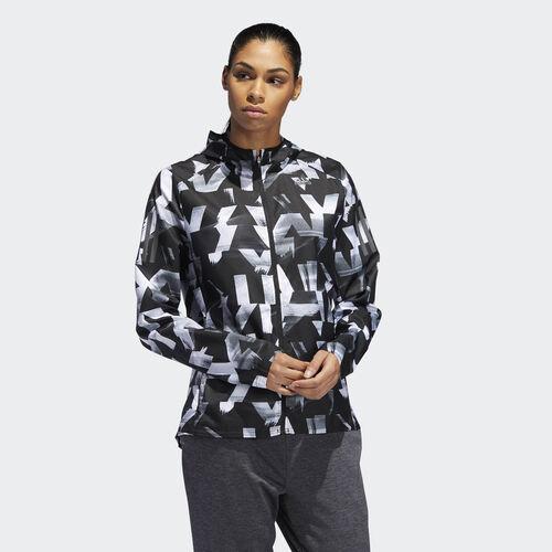 adidas - Own the Run Speed Splits Jacket White / Black DQ2628