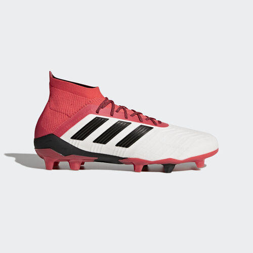 adidas - Predator 18.1 Firm Ground Boots Ftwr White/Core Black/Real Coral CM7410