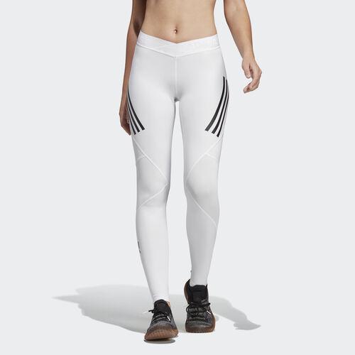 adidas - Alphaskin Sport 3-Stripes Long Tights White DQ3559