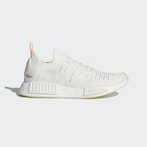 adidas - NMD_R1 STLT Primeknit Shoes Cloud White / Cloud White / Clear Orange B37655
