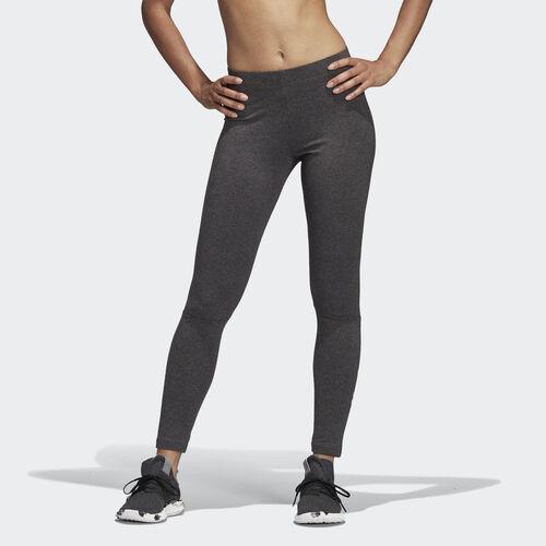 adidas - Essentials Linear Tights Dark Grey Heather / Real Magenta CZ5740